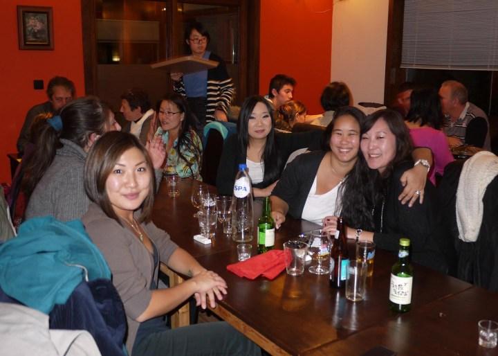 Repas Racines coréennes à Bruxelles le 27 ocotobre 2012