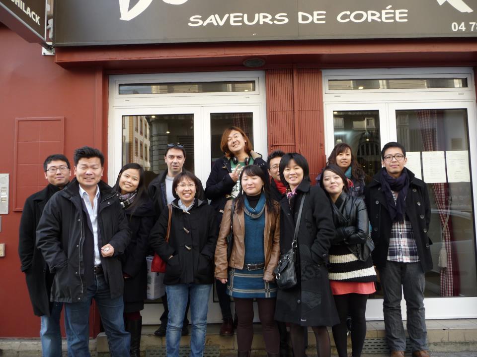 2012.11.17 Photo de groupe du repas à lyon