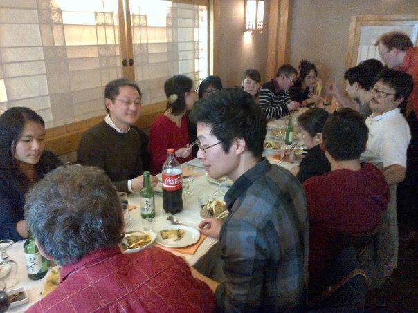 Photo du déjeuner mensuel parisien de Racines coréennes de février 2014 1