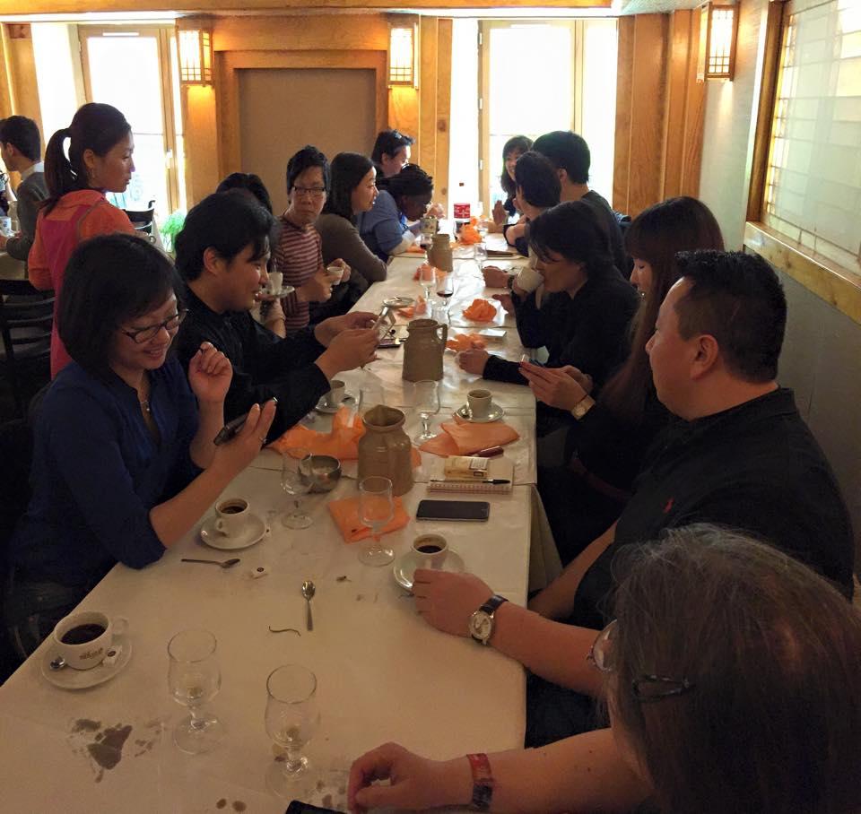 Photo du déjeuner mensuel parisien de Racines coréennes de février 2015 2