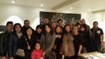 Photo de groupe du dîner de Racines coréennes du vendredi 4 décembre 2015 organisé par Nicolas et Aurélie